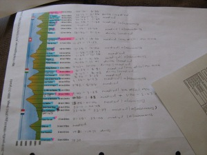 at UTMB in 2010 I had detailed time estimates for my seconds